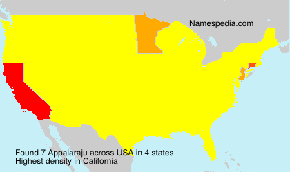 Surname Appalaraju in USA