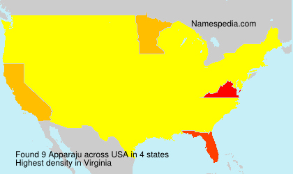 Surname Apparaju in USA