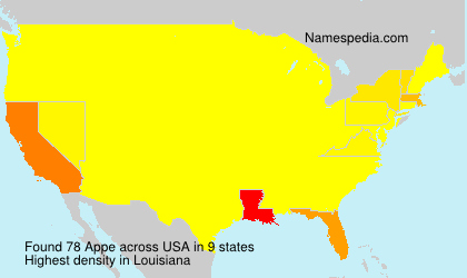 Surname Appe in USA