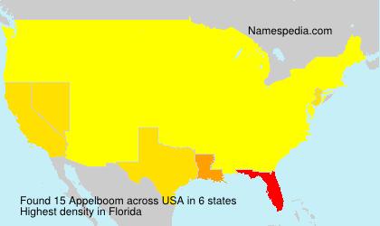 Familiennamen Appelboom - USA