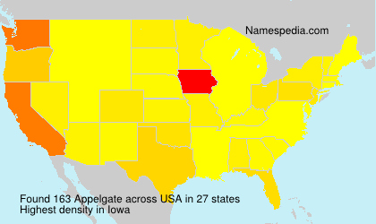 Surname Appelgate in USA