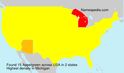 Surname Appelgreen in USA