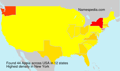Surname Appia in USA