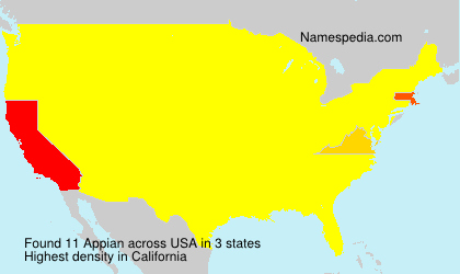 Surname Appian in USA