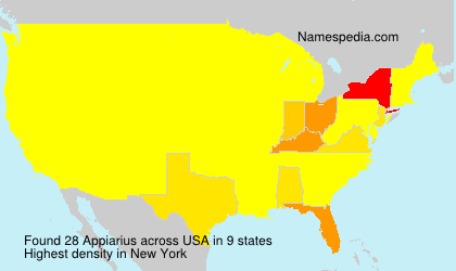 Surname Appiarius in USA