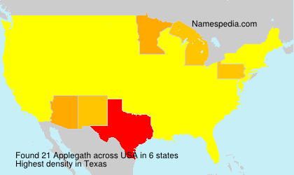Surname Applegath in USA