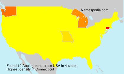 Surname Applegreen in USA