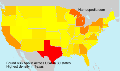Surname Applin in USA