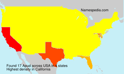 Surname Apud in USA