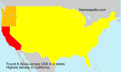Surname Apulu in USA
