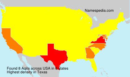 Familiennamen Aqila - USA