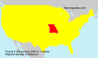 Surname Aql in USA
