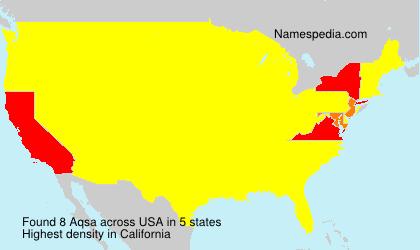 Familiennamen Aqsa - USA