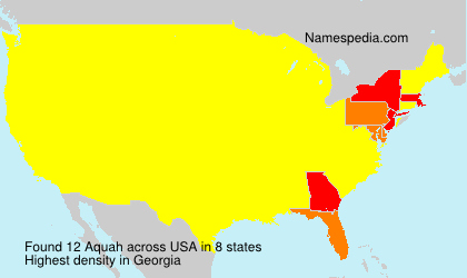 Surname Aquah in USA