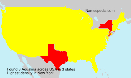 Surname Aqualina in USA