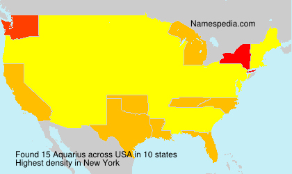 Surname Aquarius in USA