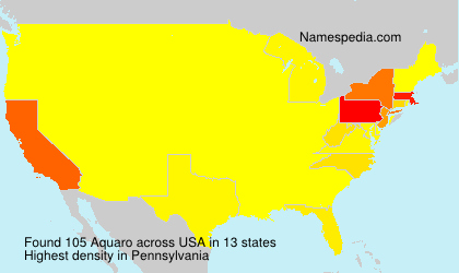Surname Aquaro in USA