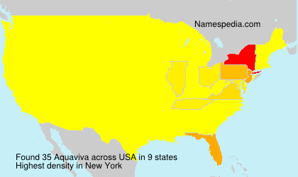 Surname Aquaviva in USA