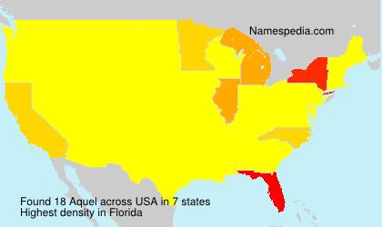 Familiennamen Aquel - USA