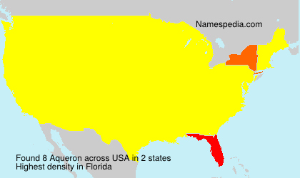Surname Aqueron in USA
