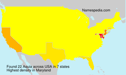 Surname Aquia in USA