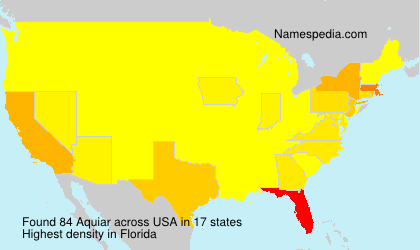 Surname Aquiar in USA