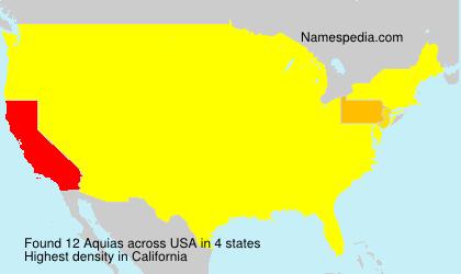 Familiennamen Aquias - USA