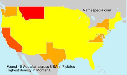 Familiennamen Aquiatan - USA