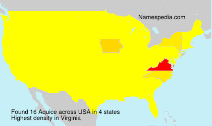 Familiennamen Aquice - USA