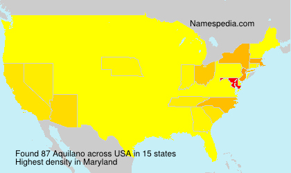 Surname Aquilano in USA
