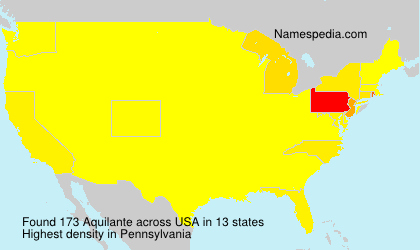 Surname Aquilante in USA