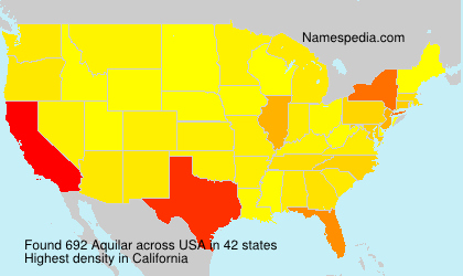Surname Aquilar in USA
