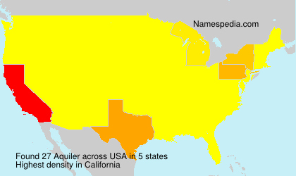 Surname Aquiler in USA