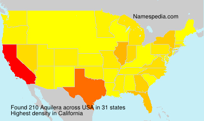 Surname Aquilera in USA
