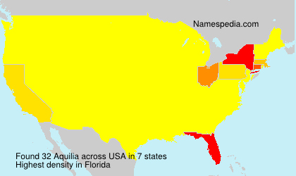 Surname Aquilia in USA