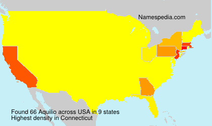 Surname Aquilio in USA