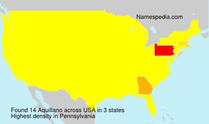 Familiennamen Aquillano - USA