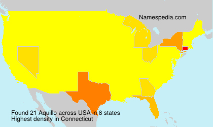 Surname Aquillo in USA
