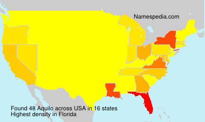 Surname Aquilo in USA