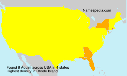 Surname Aquim in USA