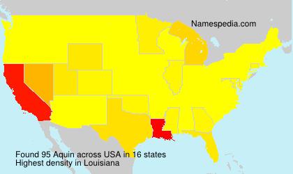 Familiennamen Aquin - USA
