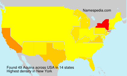 Surname Aquina in USA