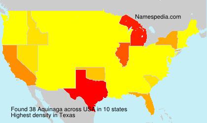 Familiennamen Aquinaga - USA