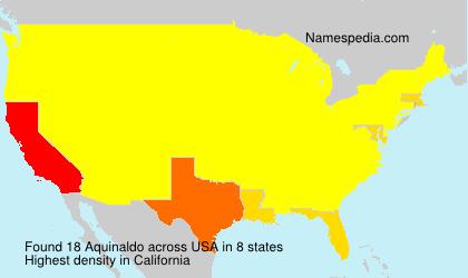 Familiennamen Aquinaldo - USA