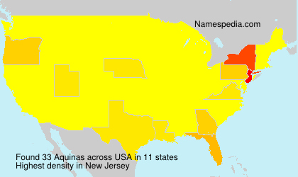 Surname Aquinas in USA