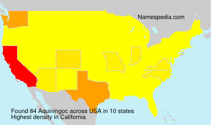 Surname Aquiningoc in USA