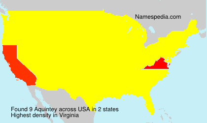 Surname Aquintey in USA