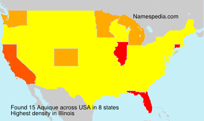 Surname Aquique in USA
