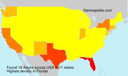 Familiennamen Aquire - USA