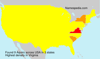 Surname Aquiro in USA